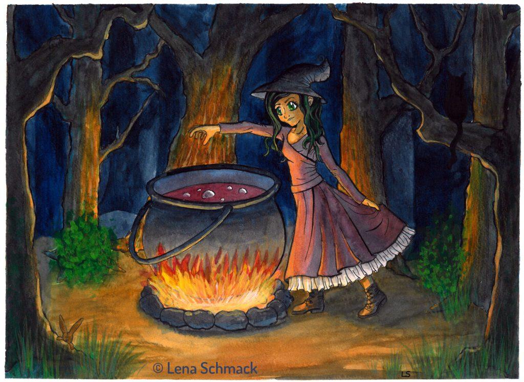 Welche Farbe hat ein Schatten Kleine Hexe