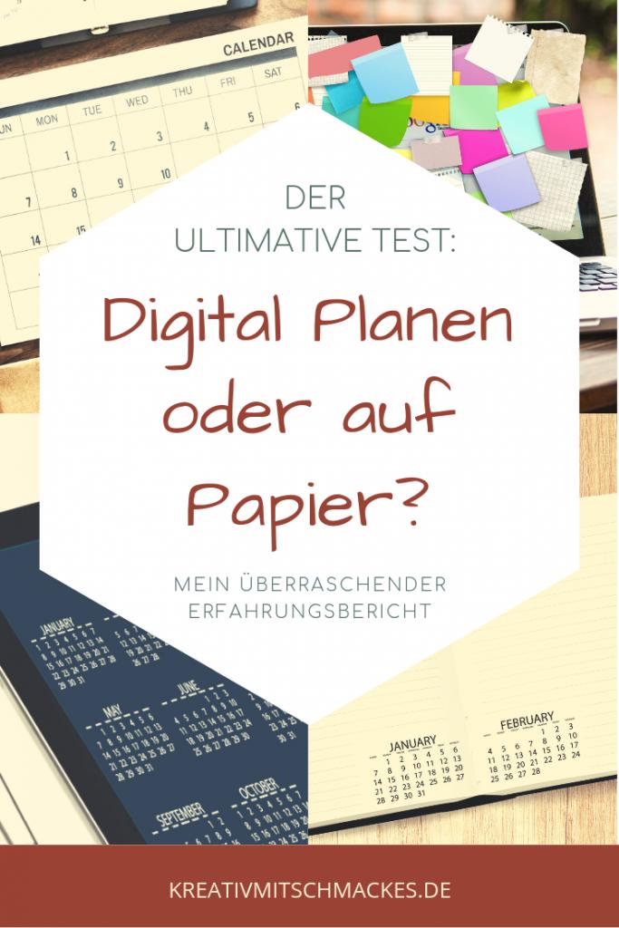Digital Planen oder Planen auf Papier?